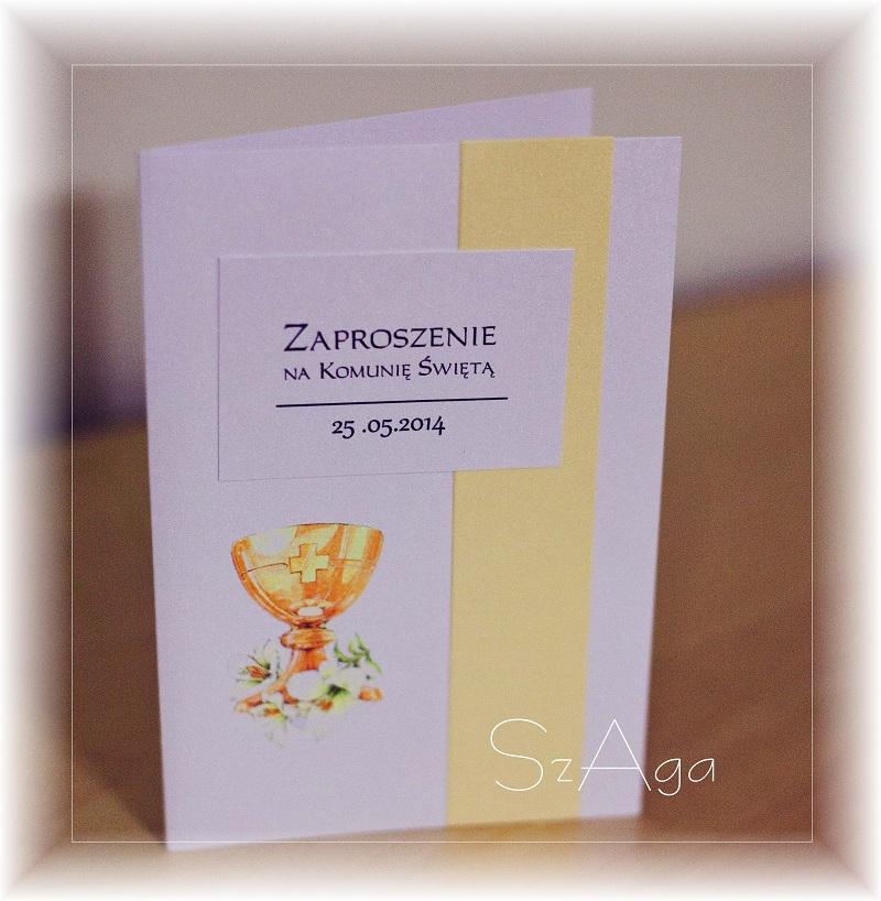 Andrzej Zaproszenia ślub Komunia Chrzciny